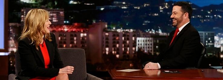 Sur le plateau du Jimmy Kimmel Live
